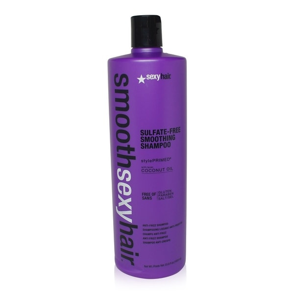 Sexy Hair Smooth Sulfate Free Smoothing Anti Frizz Shampoo 33.8 Oz