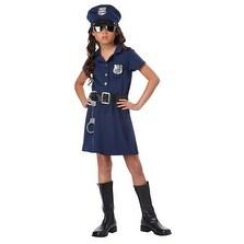 Tough Cop Girls Navy Police Halloween Costume