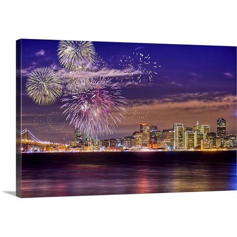 """San Francisco 2013 New Year Firework CA 2013"" Canvas Wall Art"