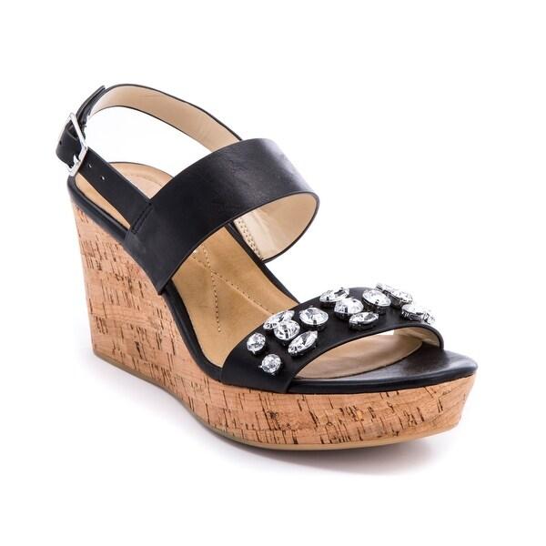 Andrew Geller DESTIN Women's Sandals & Flip Flops Black