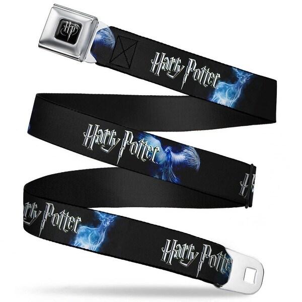 Harry Potter Logo Full Color Black White Harry Potter Animal Spirits Black Seatbelt Belt