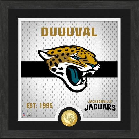 Jacksonville Jaguars Battle Cry Bronze Photo Mint - 13x13