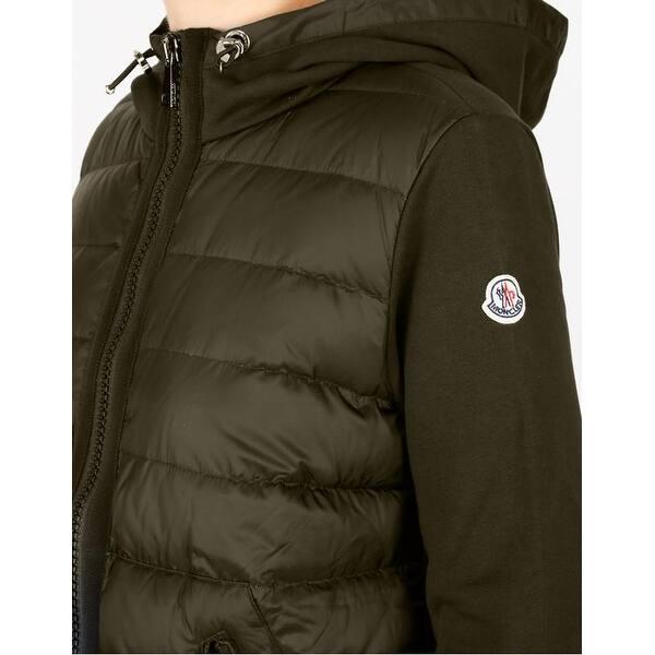 disponibilità nel Regno Unito b2b61 50967 Shop Moncler Maglia Olive Hooded Cardigan Jacket. - Overstock ...