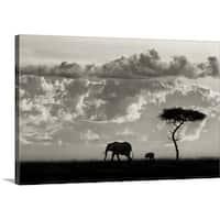 Mario Moreno Premium Thick-Wrap Canvas entitled Silhouettes of Mara