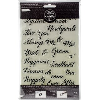 Kelly Creates Acrylic Traceable Stamps-Wedding