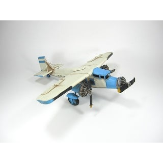 Link to Metal Model Airplane Decor in Blue - Small Similar Items in Accent Pieces