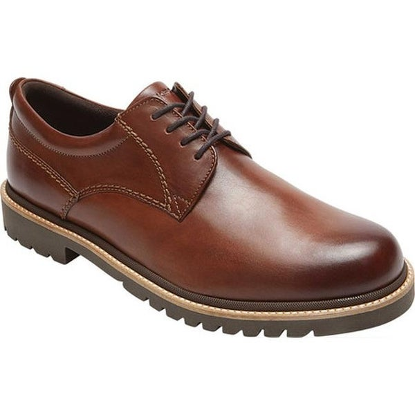 7157962099f2 Shop Rockport Men s Marshall Plain Toe Oxford Dark Brown Leather ...