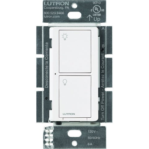 Lutron Caseta Wireless Smart Lighting Switch for All Bulb Types and Fans (White) - White
