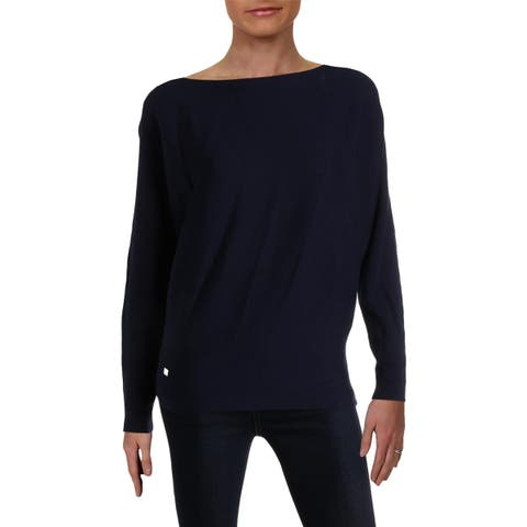 Lauren Ralph Lauren Womens Pullover Sweater Ribbed Dolman