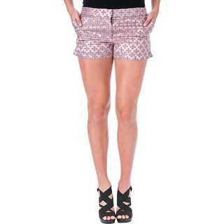 Elizabeth and James Womens Tristant Casual Shorts Tile Jacquard