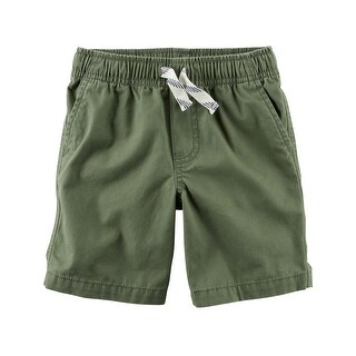 Carter's Little Boys' Pull-On Canvas Shorts, 2-Toddler