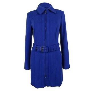 INC International Concepts Women's Belted Jacket - goddess blue