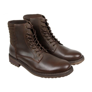 Kenneth Cole Beat It Mens Brown Leather Casual Dress Lace Up Boots Shoes
