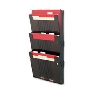 Hanging File Wall Pockets- Letter Size- 3 Pockets- Smoke