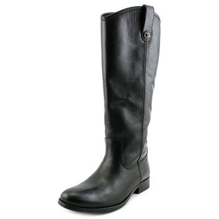 Frye Melissa Button Women Round Toe Leather Black Knee High Boot