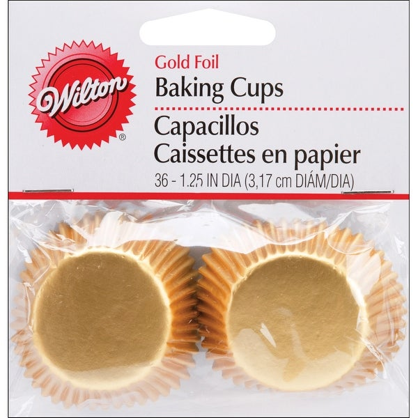 Mini Baking Cups-Gold Foil 36/Pkg - GOLD