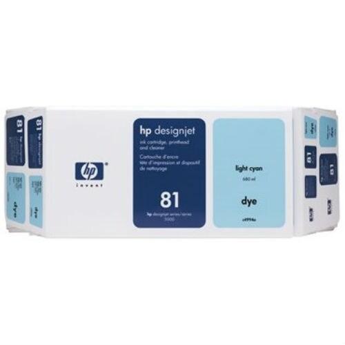 HP 81 Ink Cartridge - Light Cyan (C4994A) (Single Pack)