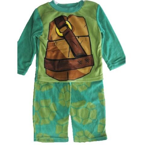 Nickelodeon Little Boys Green Ninja Turtles 2 Pc Pajama Set 4-6