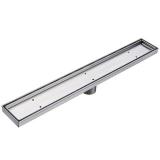 "Miseno MLND-T-48 48'' Tile Insert Linear Shower Drain with 2"" Outlet"
