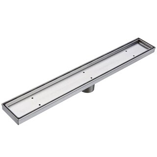 """Miseno MLND-T-60 60'' Tile Insert Linear Shower Drain with 2"""" Outlet"""