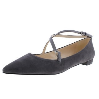 Nine West Womens Anastagia Suede Pointed Toe Ballet Flats