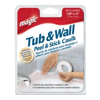 """Magic 3014 Tub & Wall Regular Peel & Stick Caulk, 7/8"""" x 11'"""