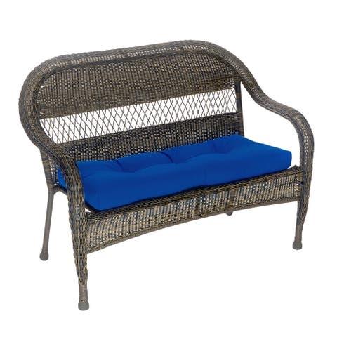 "Patio Outdoor/Indoor Marine Blue Bench Cushion - 43"" x 19"" x 3"""