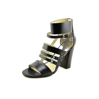 Michael Michael Kors Winston Sandal Women Open Toe Leather Black Sandals