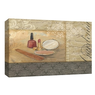 """PTM Images 9-153981  PTM Canvas Collection 8"""" x 10"""" - """"Bath and Beauty II"""" Giclee Makeup Art Print on Canvas"""