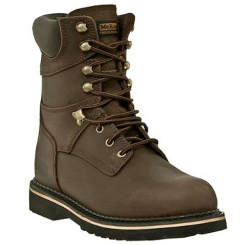 McRae Industrial Work Boots Mens Leather Lacer Dark Brown