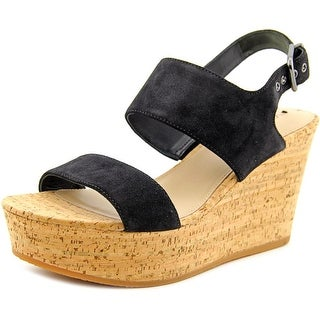 Via Spiga Kezia Open Toe Suede Wedge Heel