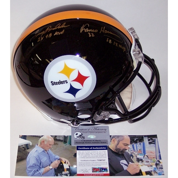 f1adadcca Shop Terry Bradshaw   Franco Harris Autographed Hand Signed Pittsburgh  Steelers Authentic Helmet - PSA DNA - Free Shipping Today - Overstock -  13074338