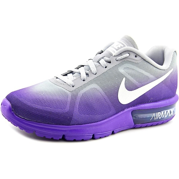 Nike Air Max Sequent Women Round Toe Synthetic Purple Running Shoe