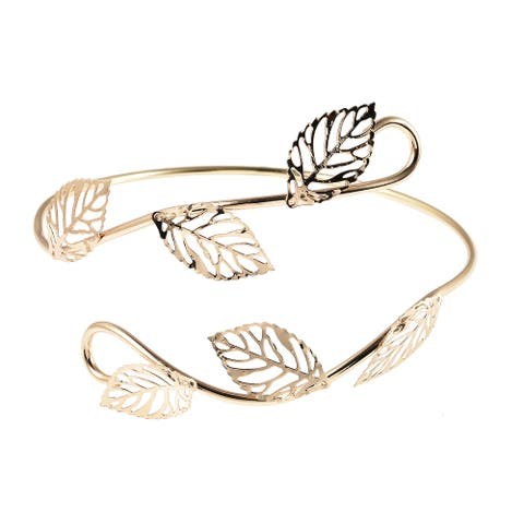 Women Devil Ivy Plant Inspired Armlet Iron Gift Cuff Jewelry 9-10 In - 9-10 Inches