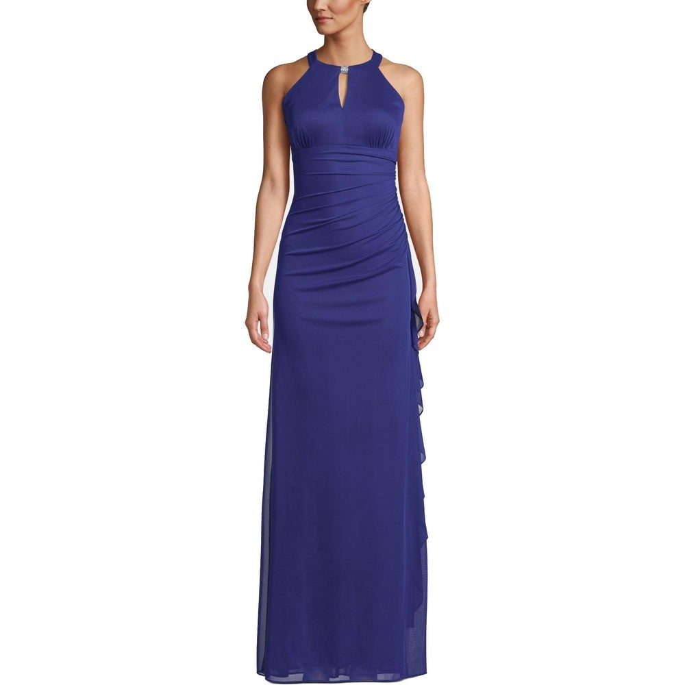 Betsy & Adam Womens Evening Dress Embellished Keyhole - Royal by  Looking for