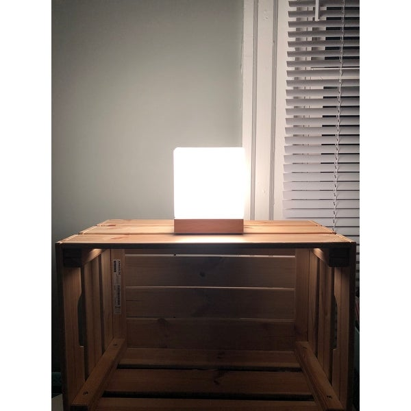 Table Lamp Cube Accent Gl Shade
