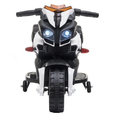"""Kids Electric Motorcycle Ride-On Toy 6V Battery Powered with Music - 7'6"""" x 9'6"""""""