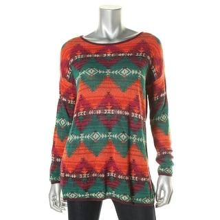Denim & Supply Ralph Lauren Womens Printed Lightweight Pullover Sweater