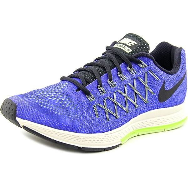 Nike Air Zoom Pegasus 32 Men Round Toe Synthetic Gray Running Shoe