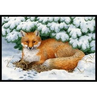 Carolines Treasures ASA2184MAT Winter Fox Indoor or Outdoor Mat 18 x 27