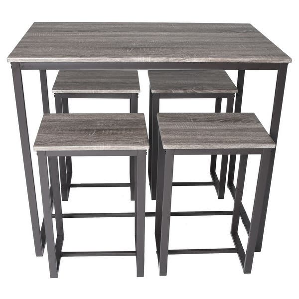 Tremendous Shop Zenvida 5 Piece Bistro Pub Table Set With 4 Stools Onthecornerstone Fun Painted Chair Ideas Images Onthecornerstoneorg