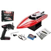 Costway Volantex Vector28 2.4G RC Racing Boat RTR Radio Remote Control High Speed Red