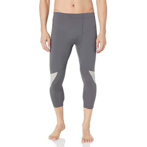 Mission Mens Activewear Bottoms Gray Size Large L Training Tights