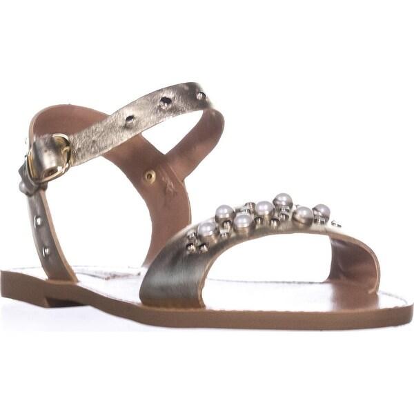 Steve Madden Dancer Flat Sandals, Gold Leather
