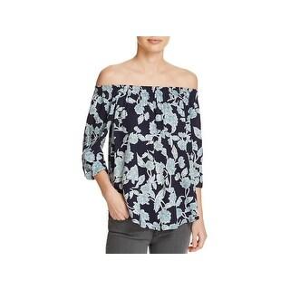 Splendid Womens Blouse Floral Print Off-The-Shoulder - XS