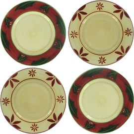 Christmas Traditions Set of 4 Dessert Plates by Russ Berrie