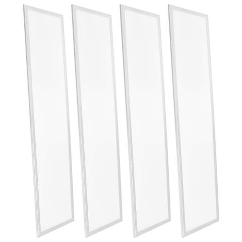 Luxrite 1x4 FT LED Flat Panel Light, 45W, 0-10V Dimmable, 12x48 Inch LED Light Panel, UL Listed, 4-Pack