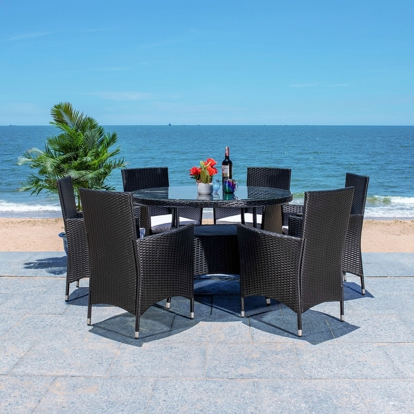 SAFAVIEH Outdoor Living Challe 7-Piece Patio Dining Set. Opens flyout.
