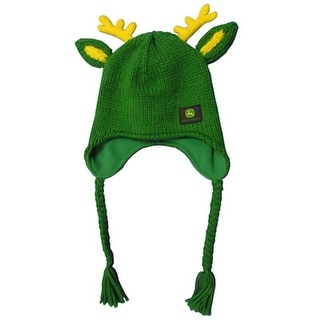 John Deere Western Hat Womens Deer Knit Trapper OS Green 23160315