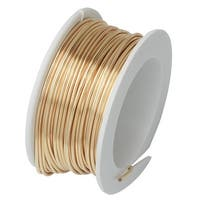Artistic Wire, Silver Plated Craft Wire 24 Gauge Thick, 10 Yard Spool, Gold Color